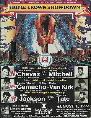 1992  Julio Cesar Chavez vs Frankie Mitchell World Title Programme