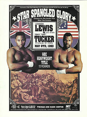 1993 LENNOX LEWIS vs TONY TUCKER WORLD TITLE PROGRAMME
