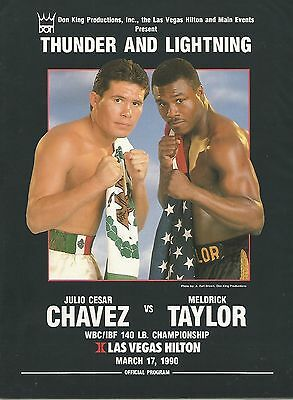 1990  Julio Cesar Chavez vs Meldrick Taylor [I] World Title Programme