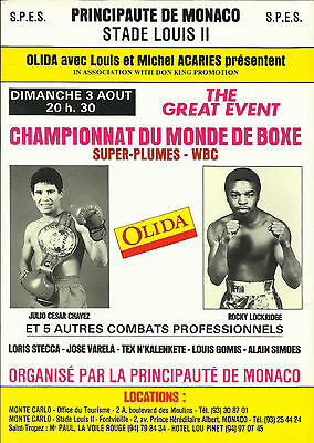 1986 JULIO CESAR CHAVEZ vs ROCKY LOCKRIDGE WORLD TITLE PROGRAMME