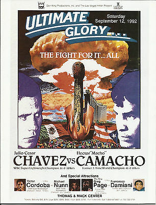 1992 JULIO CESAR CHAVEZ vs HECTOR CAMACHO WORLD TITLE PROGRAMME