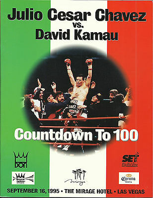 1995 JULIO CESAR CHAVEZ vs DAVID KAMAU WORLD TITLE PROGRAMME