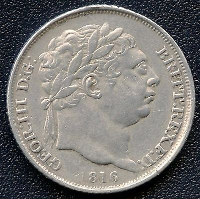 1816 Great Britain 6 Pence Silver Coin ( 2.83 Grams .925 )