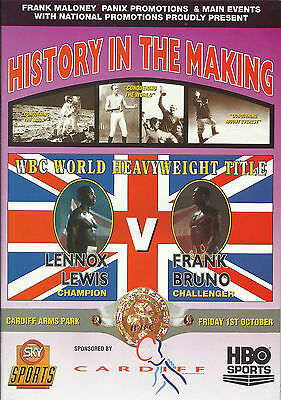 1993 LENNOX LEWIS vs FRANK BRUNO WORLD TITLE PROGRAMME