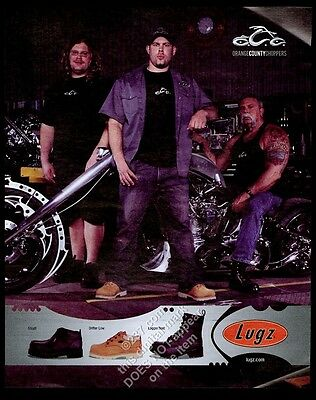 2006 Orange County Choppers motorcycle photo Lugs boots vintage print ad