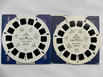 View Master  Reels  2680 + 2681  Monaco  and  Gardens  1950s