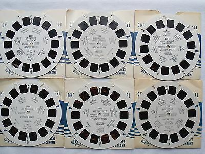View Master  6 Reels  Vatican State   1949  Complete Set  2721 to 2726