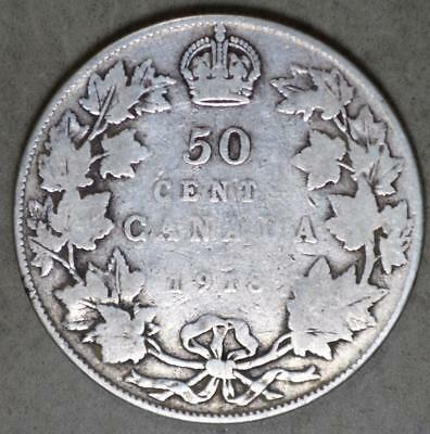 Canada 1918 50 Cents Silver Coin