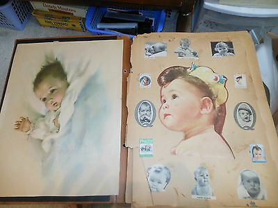 1950s Old BABY Scrapbook Pictures Magazine Clippings Infant Children Boys Girls