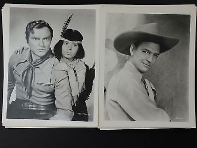 LOT: 48 CONTEMPORARY 8 x 10 PHOTOGRAPHS~1930s-1950s WESTERN MOVIE STARS~
