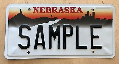 "Nebraska Graphic  Sample Auto Passenger License Plate "" Sample "" Ne"