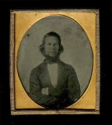 1850s Ambrotype Young Man ID'd Charlie W. Reed, Washington DC
