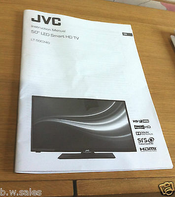 JVC LT-50C740 Official LCD Operating Instructions Instruction Manual User Guide