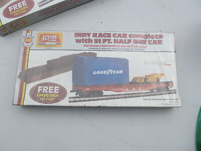 Vintage AHM Action Cars Indy Race Car with Half Box Car SEALED NEW