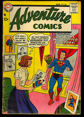 Adventure Comics #246 Nice Early Silver Age Superboy DC Comic 1958 GD+