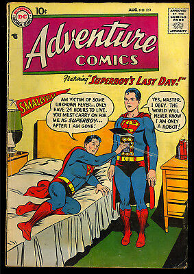 Adventure Comics #251 Nice Early Silver Age Superboy DC Comic 1958 VG-