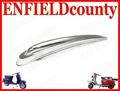 "Brand New Vespa Front Mudguard Tear Drop Chrome Plated Trim Crest 9"" Long @aus"