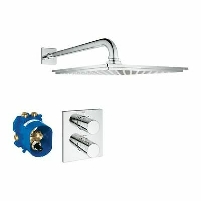 Grohe Cube 210 UP-Duschsystem  mit Grohtherm 3000 und Kopfbrause  Allure, chrom