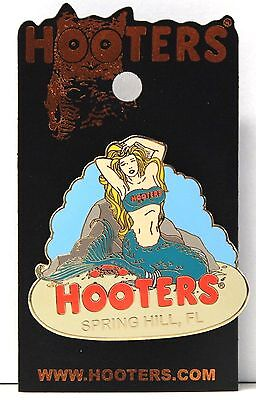 Hooters Restaurant Mermaid Girl In Sea Spring Hill Florida Fl Label Pin