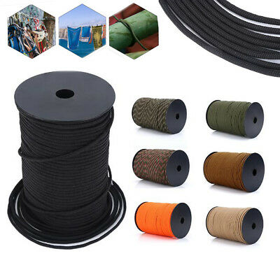 550 Paracord Parachute Cord Lanyard 9 Strand Core Tent Rope Climbing 100M DY