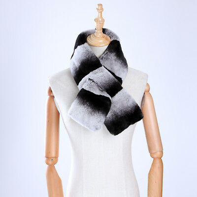 Women Natrual Real Rex Rabbit Fur Patchwork Color Scarf Lady Warm Scarve Muffler