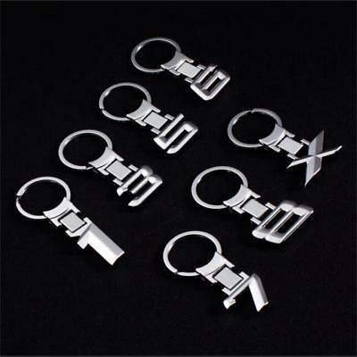 3D Metal Car Keychain Keyring Number 1 3 5 6 7 8 X Auto Key Chain Ring Xmas Gift