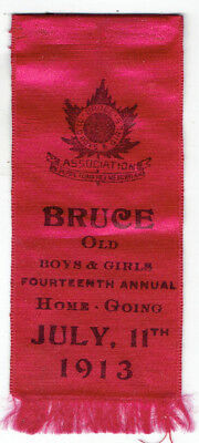 1913 Bruce Ontario Old Boys and Girls Ribbon