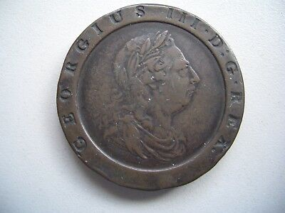 George 111, 1797 Twopence, Very Fine condition, 41 mm, 55 grams [2]