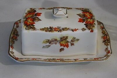 Royal Winton Grimwades Autumn Leaves Butter Dish & Cover