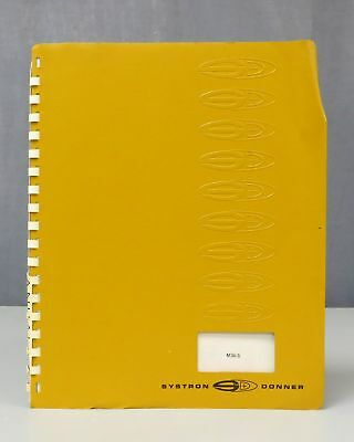 Systron Donner M36-5 Mercury Instrument Series Power Supply Instruction Manual