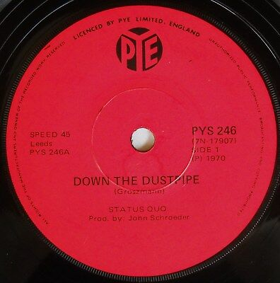 Status Quo-Down The Dustpipe-Rare South Africa 45-7 Single-1970-Exc Unplayed