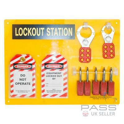 *NEW* 5 Lock Lockout Tagout Station - Complete with Accessories
