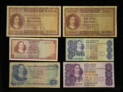 South Africa Collection of 13x 20thC Banknotes