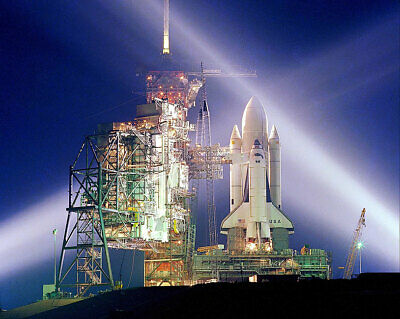 STS-1 Space Shuttle Columbia on Launch Pad 11x14 Silver Halide Photo Print