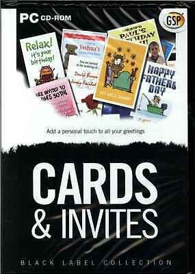 Cards & Invites, Create Your Own Greetings Cards PC Software New XP