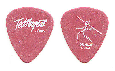 Ted Nugent Craveman Red Guitar Pick - 2002 Tour