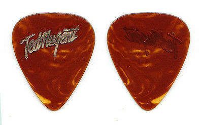 Ted Nugent Signature Brown Faux Tortoise Guitar Pick - 1977 Tour