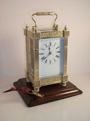 Antique French carriage clock C1890. With key. Restored & serviced in Sept 2017.