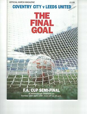 COVENTRY CITY v LEEDS UNITED @SHEFFIELD WEDNESDAY FAC SEMI FINAL 12th April 1987