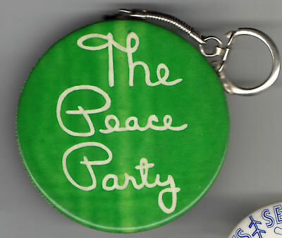 vintage PEACE Party KEYCHAIN Keyring