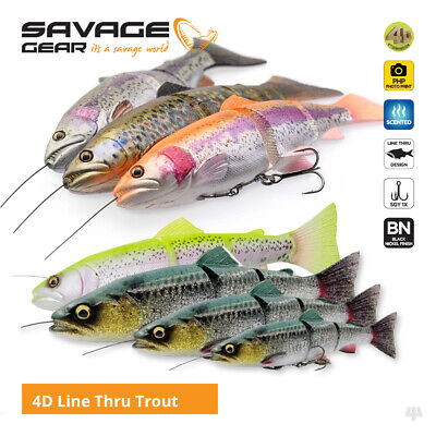 Savage Gear 4D Line Thru Trout Swim Baits / Lures - Pike Zander Salmon Fishing
