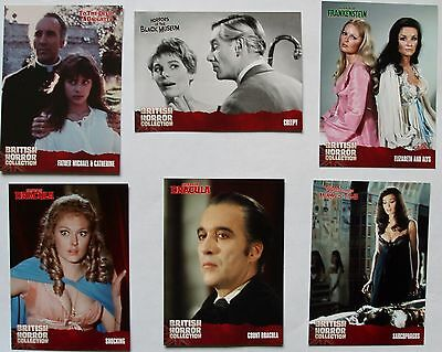 British Horror Collection Mini Master 92 card set plus 18 foil chase