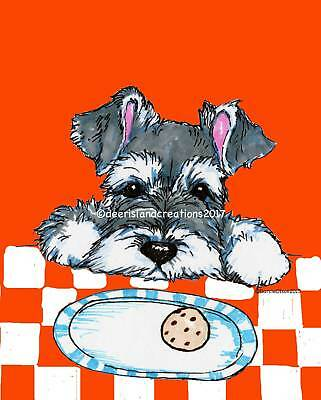 Schnauzer  note cards add a short message inside Free