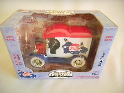 Gearbox Collector COIN BANK Pepsi-Cola 1912 FORD Delivery Truck NIB