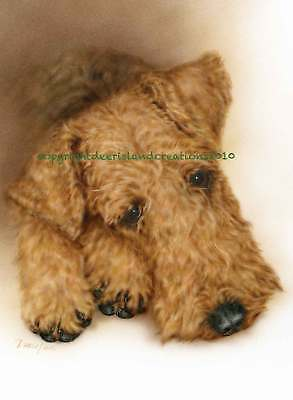 Airedale Terrier  note cards add a short message inside Free