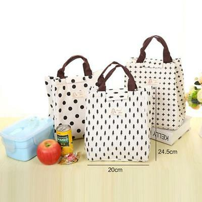 Thermal Insulated Lunch Bag Picnic Box Storage Cooler Tote Bag Portable Travel L