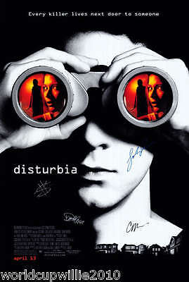 ' DISTURBIA ' POSTER SIGNED BY SHIA LaBEOUF, ROEMER, MOSS, & MORSE, WITH COA