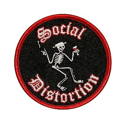 Social Distortion Skeleton Music Band Embroidered Iron On Applique Patch