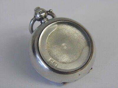 A Rare Antique Edwardian Solid Sterling Silver & Glass Front Sovereign Case 1904