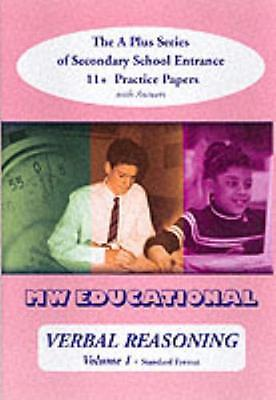 Verbal Reasoning: with Answers v. 1: The A-plus Series of Seconda...